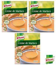 3x Portuguese Knorr Seafood Cream Gourmet Soup 72g Creme de Marisco Great Price!