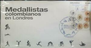 O) 2012 COLOMBIA,TRIBUTE TO OLYMPIC MEDALISTS AT THE LONDON GAMES, FDC XF.
