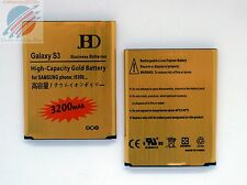 Replacement High Capacity Gold Battery 3200mAh For Samsung Galaxy S3 GT - i9300
