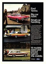 1971 Ford Torino GT SportsRoof 500 Hardtop Squire Wagon 3 photo vintage print ad