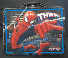 MARVEL ULTIMATE SPIDER MAN SPIDERMAN EMBOSSED METAL LUNCH STORAGE BOX