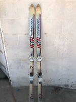 Vintage Rossignol LTD 150cm Skis With Salomon 347 Bindings Y 150 4AU24 06 00311
