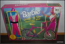 NRFB VINTAGE 1992 MATTEL BARBIE DRESS N' GO MOUNTAIN BIKE SET