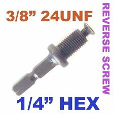 "1 pc 1/4 Hex Adapter to 3/8""-24UNF Thread with Lock Screw to Drill Chuck sct-888"