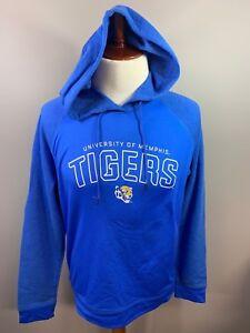NWT University Of Memphis Tigers Blue Hoodie Hooded Sweatshirt Large