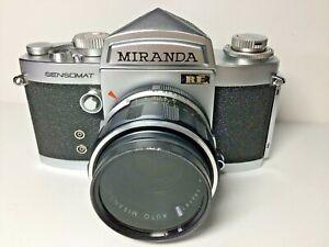 Vtg 1971 Miranda Sensomat RE 35mm Film Camera w/ Miranda 50mm f1.8 Lens & case