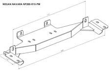Montageplatte für Seilwinde Seilwindenplatte für NISSAN NAVARA 2015 -