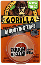 Gorilla Glue Co Mounting Tape Double Sided Weatherproof Clear Holds Up To 10 lbs