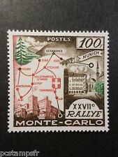 MONACO 1958, timbre 491, SPORT, RALLYE AUTOMOBILE, neuf**, VF MNH STAMP RALLY