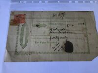 Singapore 1927 document with  revenue stamp  Ref R28507