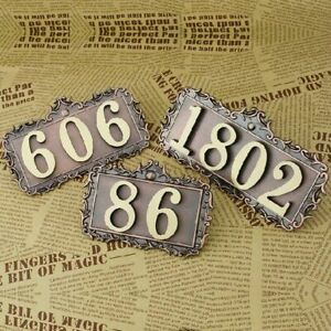 House Number European Style Door Sign Gate Number Custom-made Apartment Symbols