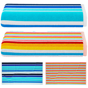 100% EGYPTIAN COTTON POOL BEACH SPA TOWEL HOLIDAY TOWELS STRIPED MULTI COLOUR