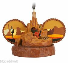 New Disney Parks Big Thunder Mountain Railroad Mickey Ear Hat Christmas Ornament