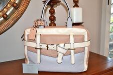 "NWT $1690 REED KRAKOFF ""Fighter"" Runway ColorBlock Leather Satchel Handbag Bag"
