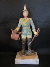 Asian 19th Century Soldier w/ Sword Figurine Hard Plastic made in Italy