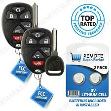 2 Replacement for 2007-2014 Chevy Tahoe Traverse GMC Yukon Remote Key Fob 6b Set