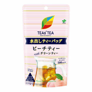 Itoen Teas'tea  New authentic Peach tea with green tea 15 bags from Japan