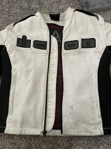 ICON Accelerant Motorcycle Perforated Black White Ride Among Us Jacket Mens Med