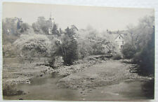 Rppc Village Scene Vintage Real Photo Postcard