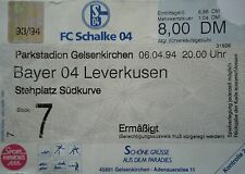 TICKET 1993/94 FC Schalke 04 - Bayer Leverkusen