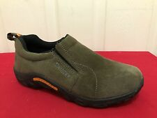 Merrell Junior Moc Boys Sz 4 M Toddler Kids Gunsmoke Suede Slip On Shoes NICE!!