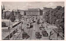 STOCKHOM SWEDEN~NORRBRO och GUSTAF ADOLFS TORG PHOTO POSTCARD 1940s