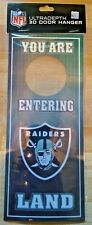 Las Vegas Raiders Ultra Depth 3D Door Hanger NIP NFL Officially Licensed