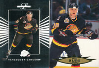 Pavel Bure lot of 2 different Vancouver Canucks Hockey Cards