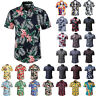 Mens Short Sleeve Blouse Hawaiian Shirts Summer Beach Holiday Casual T Shirt Top