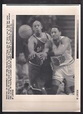 Alonzo Mourning 1996 Miami Heat Vintage A/P Laser Wire Photo with caption
