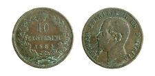 pcc1761_8) Vittorio Emanuele II  (1861-1878) 10 Centesimi 1863 Parigi