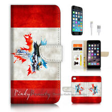 ( For iPhone 8 ) Wallet Case Cover P3688 Canada Flag