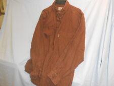 Mens Woolrich Brown Button Down Long Sleeve Oxford Dress Shirt