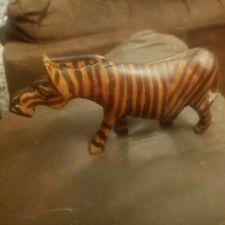 New listing Wooden Carved Zebra Figurine