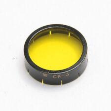 Kodak W Mount Wratten Filter - CK3 Ylw - For Movie Camera - Good Glass USED X768