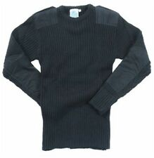 Blue castle army combat style jumper pullover work crew neck jumper - 120