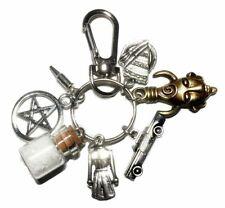 Supernatural TV Series Salt Bottle Multi Charm Metal Keychain