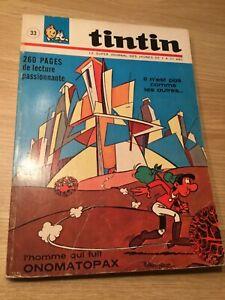 TinTin, Le Journal des Jeunes,Album 33 Édition française, Plus de 260 Pages
