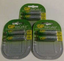6 x GP Rechargeable AA batteries ReCyko 2000 mAh NiMH 3 Packs of 2