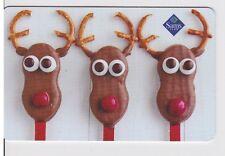 Sam's Club Chocolate Pretzel Reindeer Faces Christmas 2015 Gift Card FD-48620