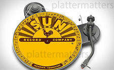 "Ltd. Edition SUN RECORDS 7"" or 12"" inch Turntable Platter MAT elvis cash perkins"