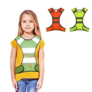 Kids Running Reflective Mesh Vest Lightweight Children Riding Safety Outdoor