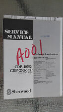 sherwood cdp-190r 250r cp service manual repair book schematic cd player compact