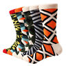 5 Pairs Mens Cotton Socks Lot Warm Novelty Argyle Stripe Casual Dress Socks 9-12