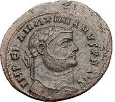 MAXIMIAN  295AD Big Follis Alexandria Authentic Ancient Roman Coin Genius i63193