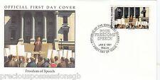 W18 4-1 storia della seconda guerra mondiale Isole Marshall FDC COVER 1991 la libertà di parola 1941