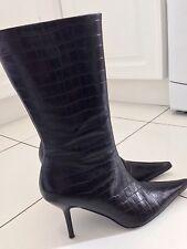 Wallis Black Leather Boots
