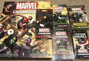 Marvel Champions LCG base game + 5 expansions