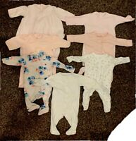 Emile et rose baby girl clothing bundle baby grow outfit Pink Newborn 0-3 months