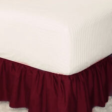 Elastic Ruffle Bed Skirt Easy Fit Spread Cover Valance Soft Twin Full Queen King